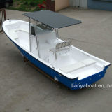 Bateau de fibre de verre de bateau de pêche de Liya 25ft avec la vente de moteur