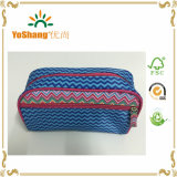 Modo Blue Stripe Microfiber Cosmetic Bag con Full Printing