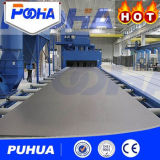 두꺼운 격판덮개 청소를 위한 Puhua 상표 롤러 유형 탄 폭파 기계