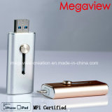Lightening e USB Flash Drive para iPhone e iPad Use o Mfi Certified