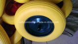 PU 거품 단단한 바퀴, 편평한 자유로운 바퀴 4.00-8