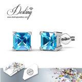 Het Kristal van de Juwelen van het lot van Swarovski de Oorringen van de Nagel van de Prinses van 7 Dagen