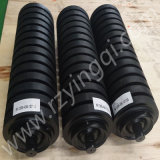 Gruben-Transport-Träger-Abflussrinne-Rückkehr-Stahlauswirkung-Gummiplatten-flaches Gummistahlhochleistungsrollen Spannrolle