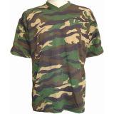 T-shirt 100% van de camouflage de Katoenen Militaire OpenluchtSlijtage van de Druk