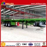 Tri des essieux 20/40ft de lit plat de conteneur de blocage remorque de conteneur semi