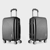 PC+ABSの荷物のカスタマイズ可能なロゴ旅行袋のABS強引な売り込みのスーツケース