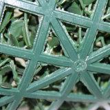 El jardín cerca el seto artificial de la HIEDRA de la estera decorativa del boj