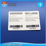 PVC pagado antecipadamente do plástico da impressão Offset com cartão do risco