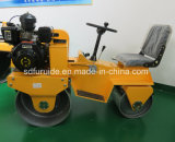 800kg Reiten-auf doppeltes Trommel-Stahlrad-Minivibrationsrolle