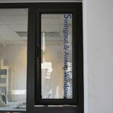 Perfil de aluminio de la rotura termal hacia fuera abierto y ventana colgada superior con el bloqueo multi Kz230