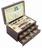 Лоснистая роскошная деревянная коробка ювелирных изделий
