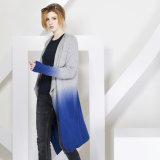 Frauen-Form Eintauchen-Färben Kaschmir-Strickjacke 16braw305