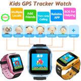 Form-scherzt bunter Touch Screen GPS-Verfolger-Uhr mit Taschenlampe
