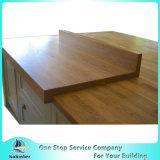 Aangepaste Countertop van het Bamboe, de Bovenkant van de Lijst van de Keuken, Woktop
