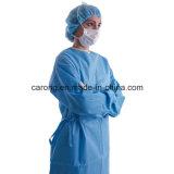 Abito non tessuto chirurgico a gettare di isolamento con il polsino lavorato a maglia
