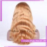 Pelucas baratas vendedoras superiores del cordón del pelo humano
