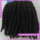 販売のバージンの人間の毛髪の拡張のためのWeft黒髪の拡張