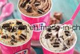 Il doppio parteggia documento patinato PE della tazza del gelato di Baskin Robbins