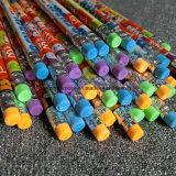 Lápiz de madera de la Hb con el borrador y lápiz de madera del color