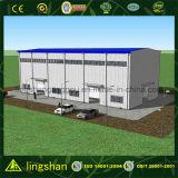 Lingshan Stahlkonstruktion-niedrige Kosten-Fertigaufbau-Lager (QDLS-009)