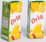 Lamellierter Ziegelstein-Form Papierkasten für Fruchtsaft