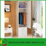 単一のドアのメラミンワードローブデザイン家具の寝室