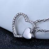 Collar pendiente en forma de corazón elegante de Soulmate de la plata esterlina 925 de las mujeres