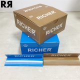 Reicheres King Size Slim Unbleached Cigarette Rolling Paper mit Tips