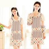 Frauen-Kleidung-gedrucktes Spitze-Küche-Blumenschutzblech mit Oversleeve