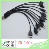 10 in 1 USB Cable Black