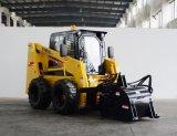mini lince del cargador del frente del cargador del buey del patín del descargador Ws85 del diseño 85HP del cargador profesional de la rueda con el motor diesel
