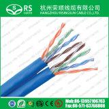 Blaue CAT6 U/UTP verdoppeln,/Doppelnetz LAN-Kabel des kabel-23AWG