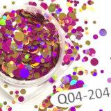 Pó colorido do Glitter