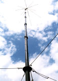 Torre galvanizada do aço do mastro do indivíduo de uma comunicação da antena de micrôonda