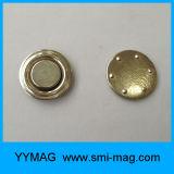 Insignes nommés de petit de bureau aimant rond en métal/insigne bouton d'aimant