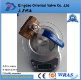 Valvola a gas d'ottone rassicurante di qualità (un servizio di arresto)