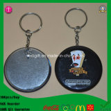 Fábrica 2015 New Arriaval PVC 50mm Tinplate Badge Keychain com SGS Mark