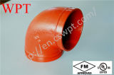 FM UL Ductile Iron 300psi Grooved 45 Degree Elbow