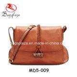 Bolso de cuero genuino los bolsos medios ocasionales del tamaño, bolso de hombro del bolso de totalizador de señora Leisure Bag Md5-008/009