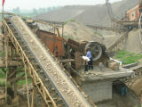 Belt en caoutchouc Conveyor pour Quarry Plant