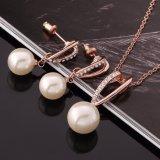 Collana ed orecchino stabiliti della perla di figura di goccia dei monili ecologici