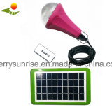 Le CE a reconnu la lampe solaire de 3 ampoules, lampe solaire portative de maison mobile de chargeur