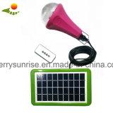 El CE aprobó la lámpara solar de 3 bulbos, lámpara solar portable del hogar móvil del cargador