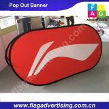 Напольный двойник встал на сторону баннерная реклама рамки хлопает вверх знамя