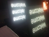 Exposição de diodo emissor de luz movente do sinal do texto