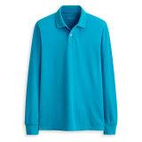 卸し売り標準的な様式の平野の人のブランクの長い袖のポロシャツ
