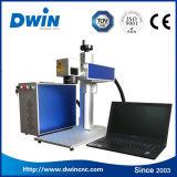 Máquina portable de la marca del laser de la fibra 20W de la venta caliente mini con el mejor precio