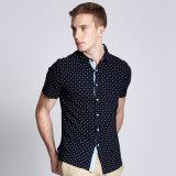 De in het groot van de Katoenen van 100% Ontwerpen van het Overhemd laatst Toevallige Lange Koker van /Short voor Mensen