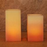 شمعة مربّعة يجعل شمعة/[لد] شمسيّ استشفّت يرفرف ضوء