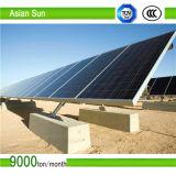 Montaggio di comitato solare - parentesi con la vite a terra